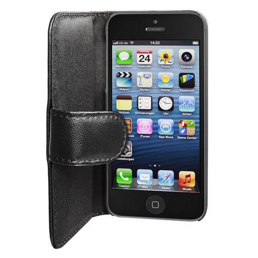 Artwizz Flip Case »Artwizz SeeJacket Leather Handyhülle designed für [iPhone SE / 5S / 5] - Schutzhülle zum Aufklappen aus Leder mit Magnetverschluss - Schwarz« iPhone SE, iPhone 5S, iPhone 5