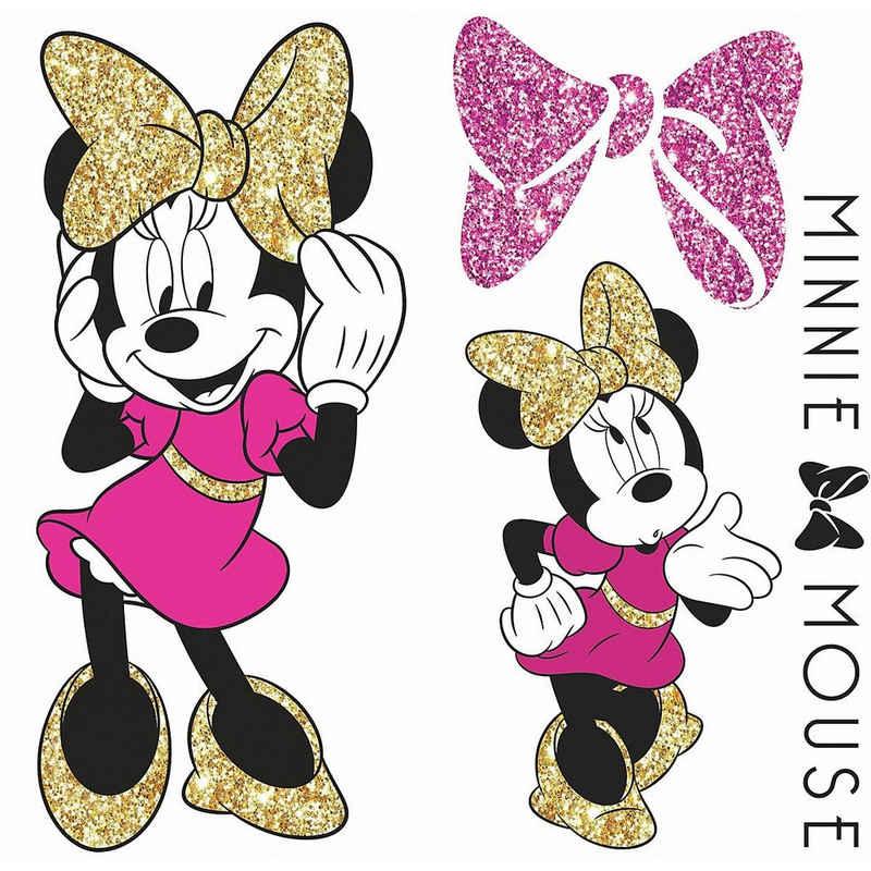 RoomMates Wandsticker »Wandsticker Disney Minnie Mouse Glitter«