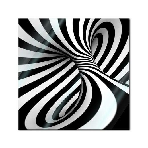 Bilderdepot24 Glasbild, Glasbild - Abstrakte 3D Spirale