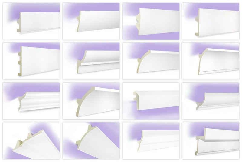Tesori Eckprofil »KF721«, LED Profile aus PU - Indirekte Beleuchtung mit Stuckleisten, leicht & lichtundurchlässig - 1 Stück / 2 Meter