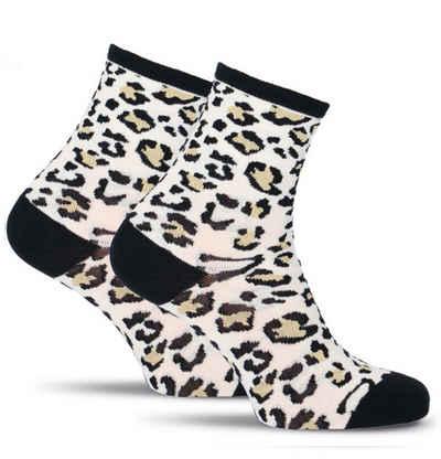 Tamaris Feinsöckchen »mit Leoparden Muster und Glitzerelementen« (1-Paar) Söckchen