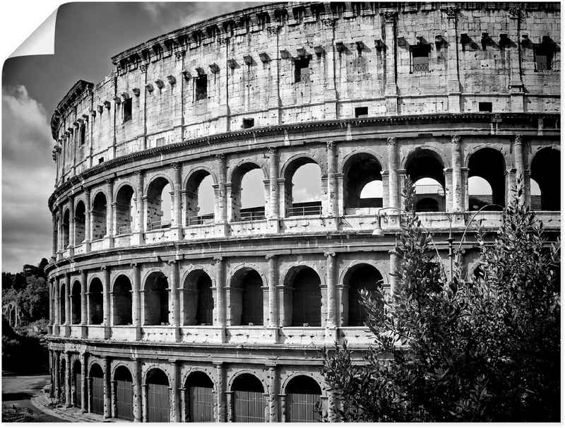 Artland Wandbild »Rom Kolosseum Monochrom«, Rom (1 Stück), in vielen Größen & Produktarten - Alubild / Outdoorbild für den Außenbereich, Leinwandbild, Poster, Wandaufkleber / Wandtattoo auch für Badezimmer geeignet