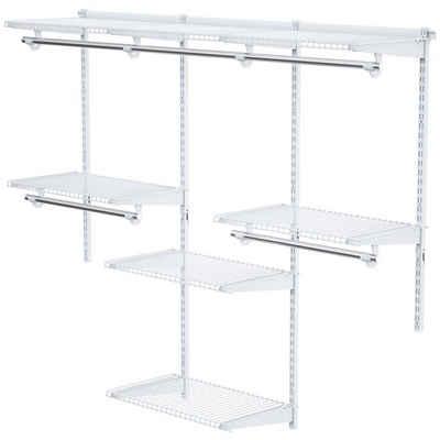 COSTWAY Kleiderschrank »offener Wandregal Schranksystem Aufbewahrungsregal« Verstellbar, mit Kleiderstange®ale, für Küche Schlafzimmer