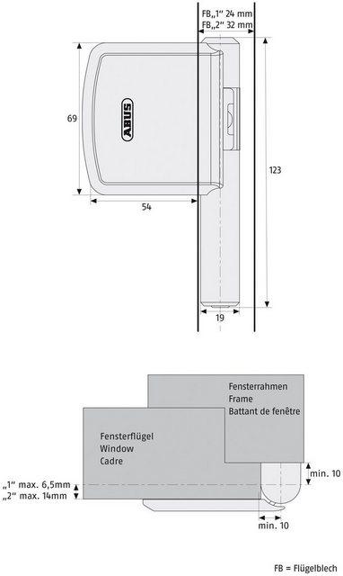 ABUS Fensterschloss »FAS101 B EK«, Scharnierseitensicherung