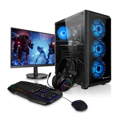 """Megaport Gaming-PC (27"""", AMD Ryzen 5 3500X 6x3,60 GHz, GeForce RTX 3060 12GB, 16 GB RAM, 2000 GB HDD, Windows 10)"""