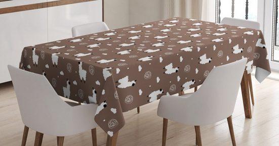 Abakuhaus Tischdecke »Personalisiert Farbfest Waschbar Für den Außen Bereich geeignet Klare Farben«, Lama Alpaka Tier Wolken Dots