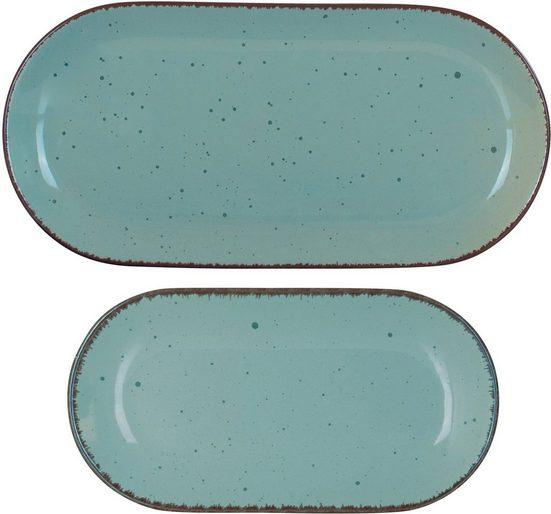 ARTE VIVA Servierplatte »Puro«, Steinzeug, (Set, 2-tlg), vom Sternekoch Thomas Wohlfarter empfohlen
