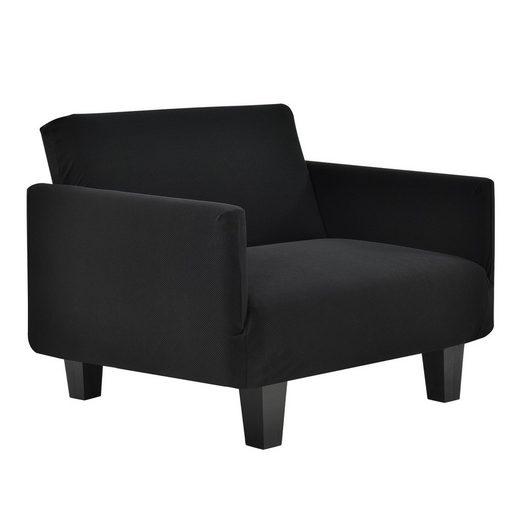 Sofahusse, neu.haus, 70-120cm Schwarz Sofabezug 1-Sitzer
