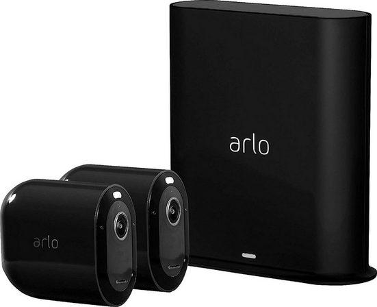 ARLO »kabellose 2K-QHD-Sicherheitskamerasystem« Überwachungskamera (Außenbereich, Innenbereich, Pro 3 Sicherheitssystem mit 2 Kameras)