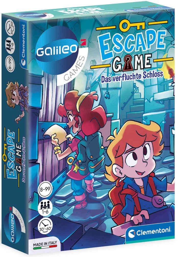 Clementoni® Spiel, Detektivspiel »Galileo Escape Game Das verfluchte Schloss«, Made in Europe, FSC® - schützt Wald - weltweit