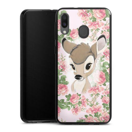 DeinDesign Handyhülle »Bambi Flower Child« Samsung Galaxy M20, Hülle Bambi Disney Offizielles Lizenzprodukt