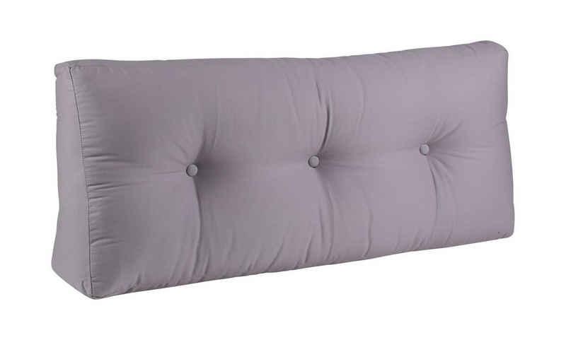 BioKinder - Das gesunde Kinderzimmer Sitzkissen, Rückenkissen 100x40 cm Grau