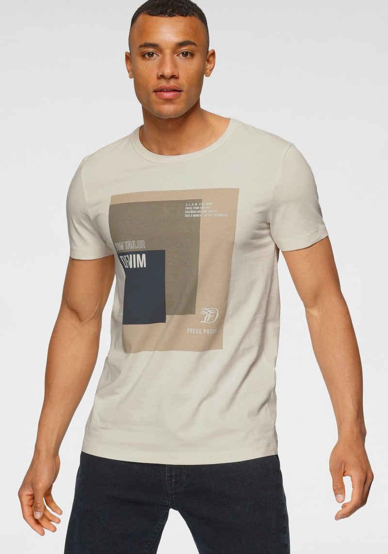 TOM TAILOR Denim T-Shirt mit Frontdruck
