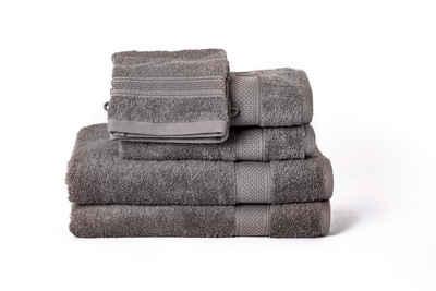 Komfortec Badetücher »Hautfreundliche Handtuch Sets mit Doppel Bordüren und aus 100% Baumwolle« (6-St)