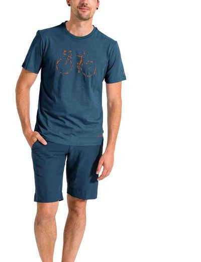 VAUDE T-Shirt »Men's Cyclist T-Shirt V« Grüner Knopf