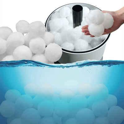 Bestlivings Sandfilteranlage (500gr Filterbälle für Pool-Filteranlagen), Filterbälle für Poolfilteranlagen, effiziente Poolreinigung durch hohe Schmutzaufnahme, 500gr. ersetzen 18kg Filtersand