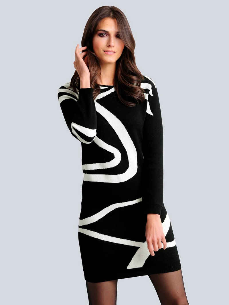 Alba Moda Strickkleid im exklusiven Dessin nur bei Alba Moda erhältlich