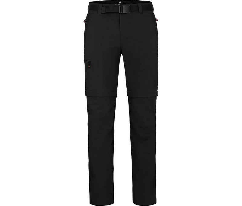 Bergson Zip-off-Hose »BAKER ZIPP-Off« Herren Wanderhose, vielseitig, pflegeleicht, Normalgrößen, schwarz