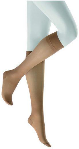 KUNERT Stützkniestrümpfe »gegen müde Beine FLY&CARE 40®« (1-Paar) soft Bund