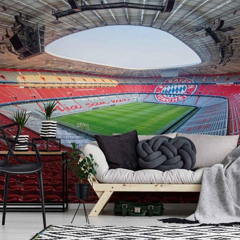 FC Bayern München Fototapete »Große Fußball Fototapete FC Bayern München Mia San Mia Vliestapete FCB Stadion«