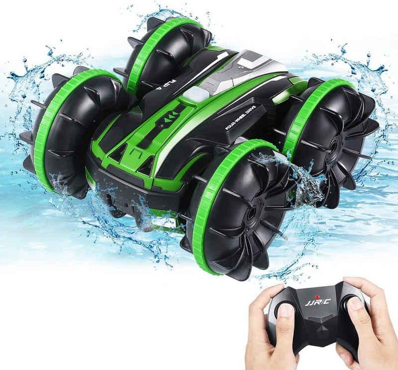 IVSO RC-Monstertruck »RC-Monstertruck,Ferngesteuertes Auto, 4WD Road Stunt RC-Autos 2.4 GHz,«, RC-Trucks im Maßstab 1:16 mit 2 Batterien im 360 ° -Dreh, elektrisches Spielzeug-RC-Auto für Jungen und Mädchen, (grün)