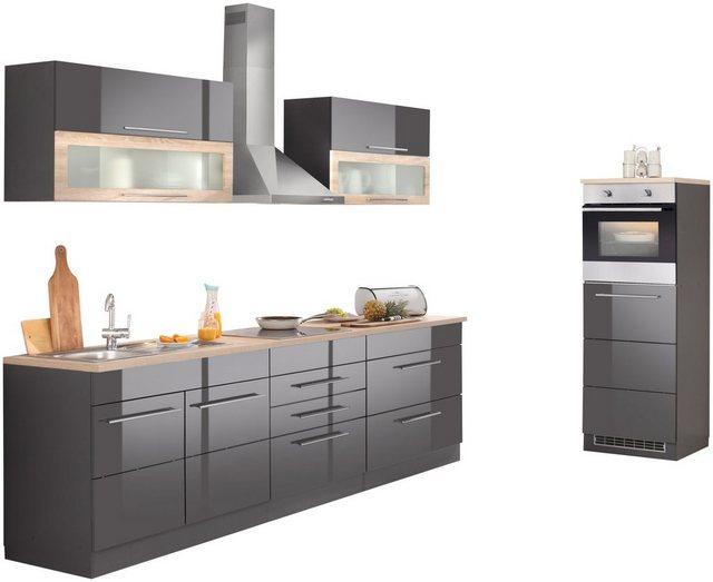 Einbauküchen - HELD MÖBEL Küchenzeile »Wien«, ohne E Geräte, Breite 340 cm  - Onlineshop OTTO
