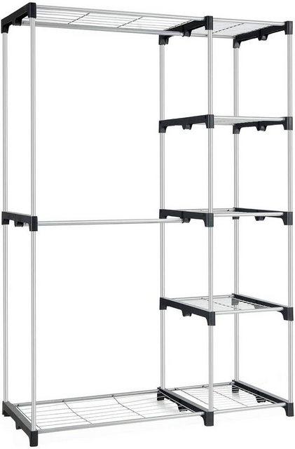 Kleiderständer und Garderobenständer - COSTWAY Kleiderständer »Hängeregal mit Ablagen 117x50x172cm«  - Onlineshop OTTO