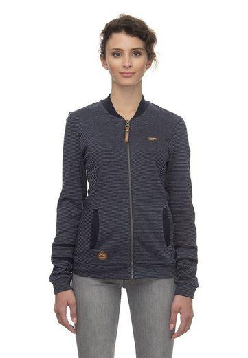 Ragwear Sweater »Ragwear Zipper Damen CARLIE ORGANIC 2011-30069 Blau Navy 2028«