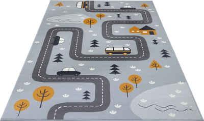 Kinderteppich »Dream Street«, HANSE Home, rechteckig, Höhe 9 mm, Straßen-Spielteppich