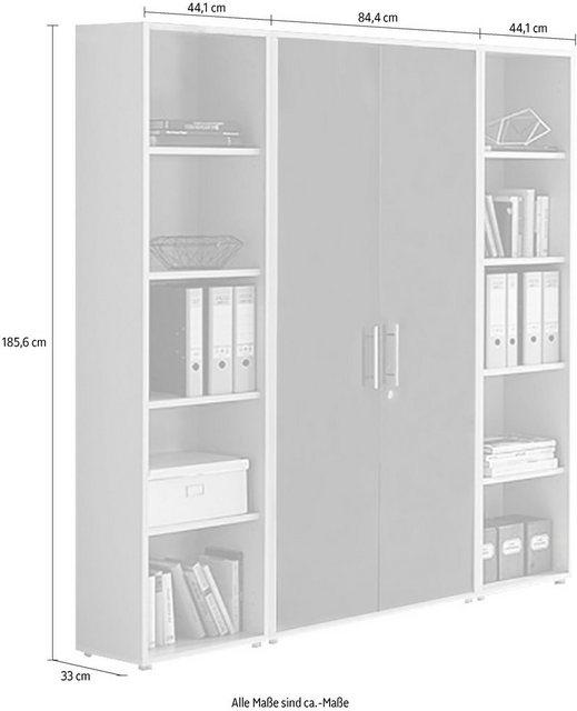 Büromöbel Sets - BMG Büro Set »TABOR 3 hoch«, (Set, 2 tlg)  - Onlineshop OTTO
