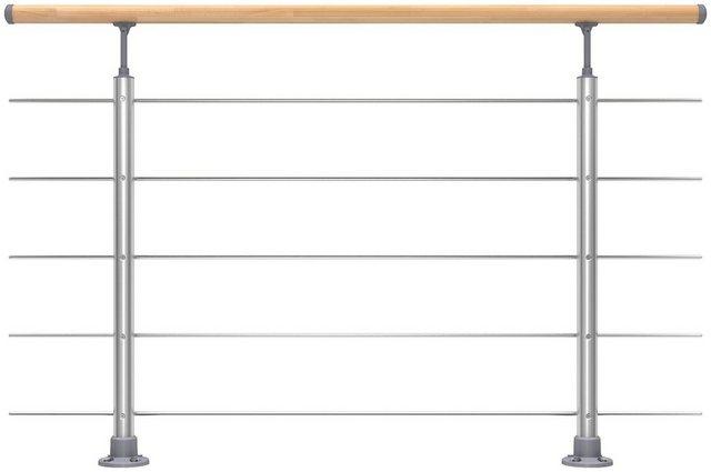 DOLLE Set: Treppengeländer 150 cm Gesamtlänge, Bodenmontage | Baumarkt > Leitern und Treppen | Dolle