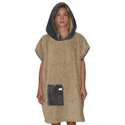 Badeponcho »Badeponcho gemustert Made in Germany«, Lou-i, mit Kapuze und Tasche