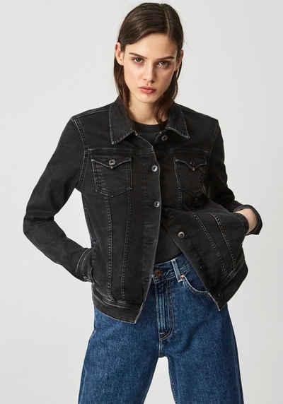 Pepe Jeans Jeansjacke »THRIFT« mit aufgesetzten Brusttaschen und vielen Teilungsnähten