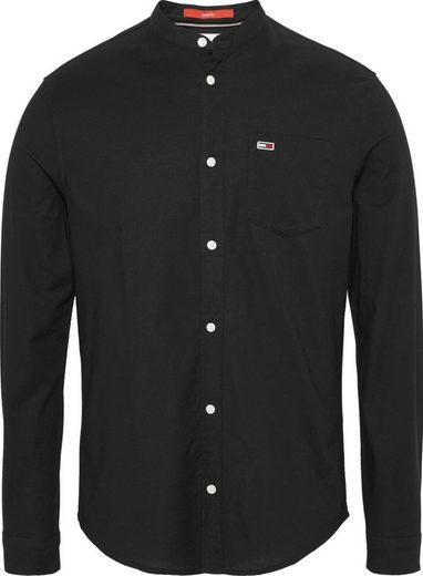 Tommy Jeans Langarmhemd »TJM MAO NECK SOLID SHIRT«
