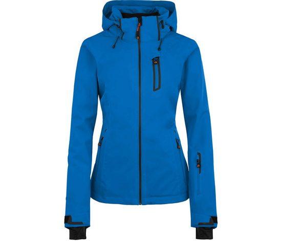 Bergson Skijacke »NICE light« Damen Skijacke, unwattiert, 20000 mm Wassersäule, Kurzgrößen, blau