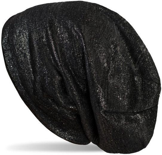 styleBREAKER Beanie »Beanie Mütze mit Glitzerfaden und kleinen Pailletten« Beanie Mütze mit Glitzerfaden und kleinen Pailletten