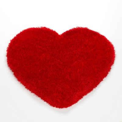 Hochflor-Teppich »Shaggy Herz KS-5«, KiYou Shaggy, herzförmig, Höhe 40 mm, für Hochzeit, Valentinstag und alle Verliebten, Wohnzimmer
