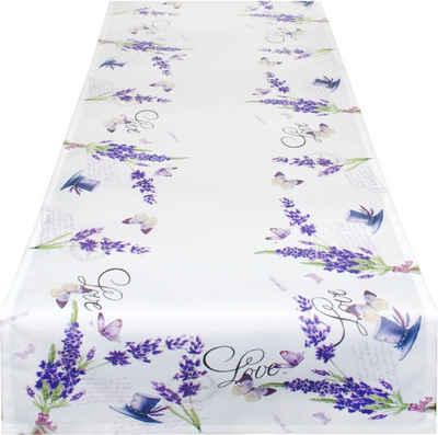 Delindo Lifestyle Tischläufer »Lavendel ZWEIGE« (1-tlg), Strukturgewebe, bedruckt