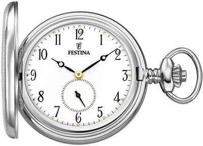 Festina Taschenuhr »UF2026/1 Festina Taschenuhr mit TU Kette Herrenuhr«, (Analoguhr), Herren Taschenuhr rund, extra groß (ca. 48mm), Edelstahlgehäuse, Elegant