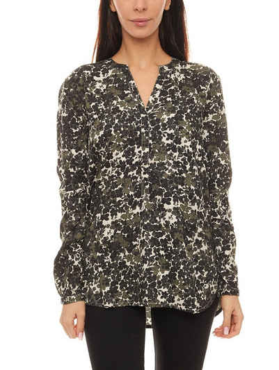 Part Two Schlupfbluse »PART TWO Shirt Bluse elastische Damen Schlupf-Bluse mit Allovermuster Langarm-Bluse Bunt gemustert«