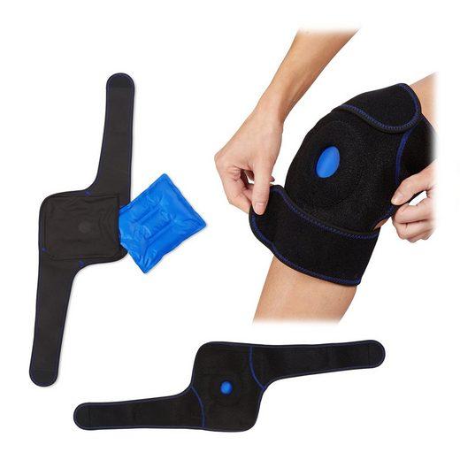 relaxdays Gelkissen »2 x Kühlkissen Knie mit Klettverschluss«