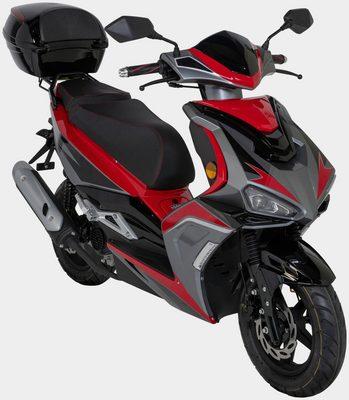 Motorroller »Striker«, 50 ccm, 45 km/h, Euro 5, (Set), mit Topcase