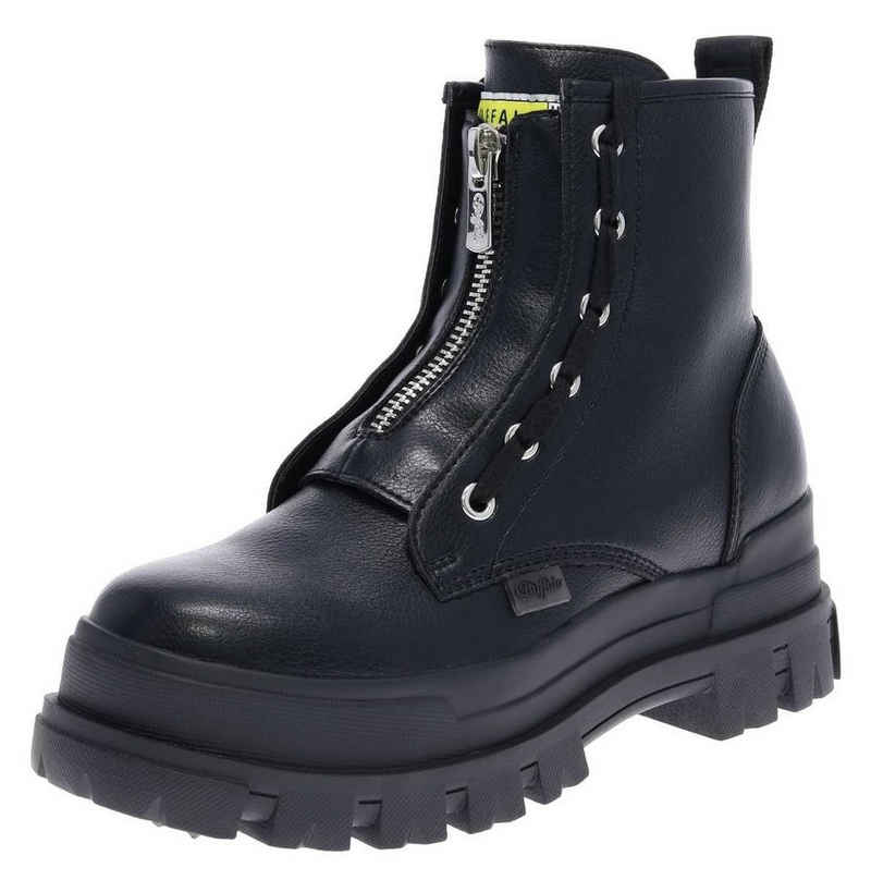 Buffalo »ASPHA ZIP Damen Stiefel Schwarz« Sneaker VEGAN