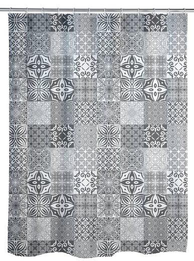WENKO Duschvorhang »Portugal« Breite 200,00 cm, Polyester, 180 x 200 cm, waschbar