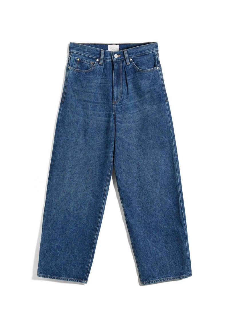Armedangels Straight-Jeans »AANIKE Damen Loose Fit High Waist Loose Fit« (1-tlg)