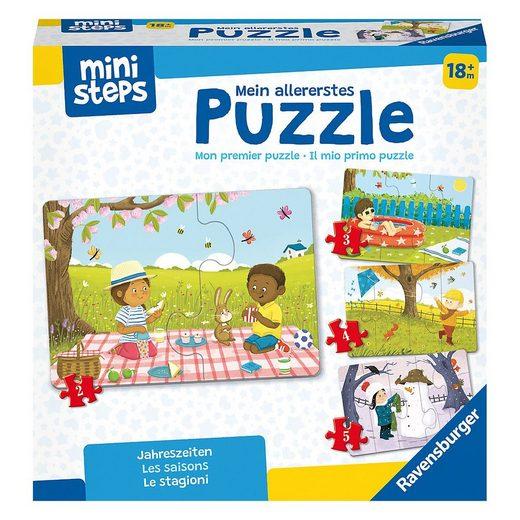 Ravensburger Steckpuzzle »ministeps® Mein allererstes Puzzle: Jahreszeiten«, Puzzleteile