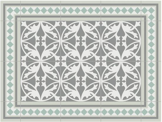 Platzset, »Matteo, Fliesen, grün«, Contento, (Set, 4-St), für innen und außen geeignet, wasserabweisend