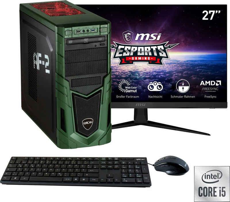 "Hyrican Military SET02092 Gaming-PC-Komplettsystem (27"", Intel Core i5, RTX 3060, 16 GB RAM, 1 GB SSD, inklusive 27"" Monitor MSI Optix G271)"
