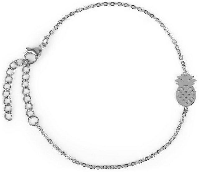 styleBREAKER Armkette »Edelstahl Armkette mit Ananas Charm«, Edelstahl Armkette mit Ananas Charm | Schmuck > Armbänder > Armketten | styleBREAKER