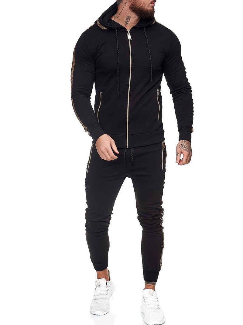 OneRedox Jogginganzug »JG-1424« (Sportanzug Jogger Trainingsanzug, im modischem Design), Fitness Freizeit Casual